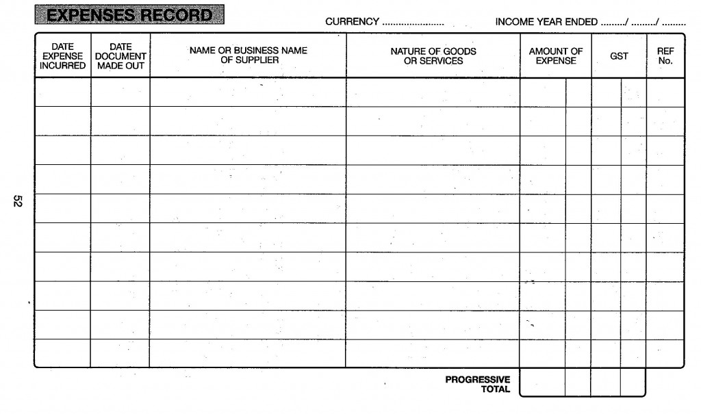 expenses record