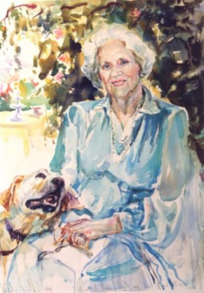 Портрет женщины. Акварель