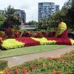 Roma street park land Brisbane Australia