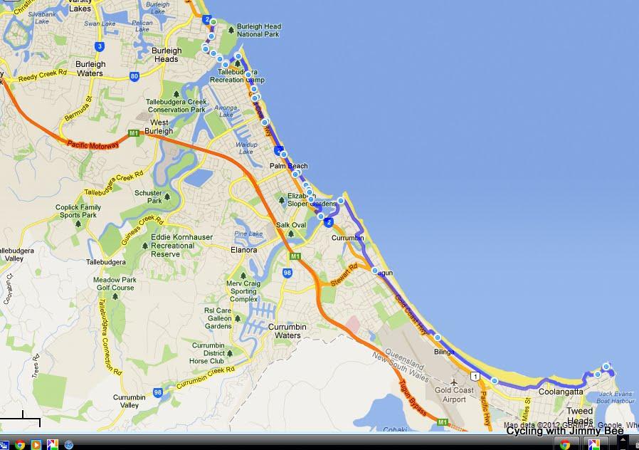 На велосипеде вдоль океана карта